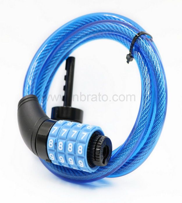 Foldable Anti Theft 10mm 4 Digit Combination Bicycle Chain Cable Lock