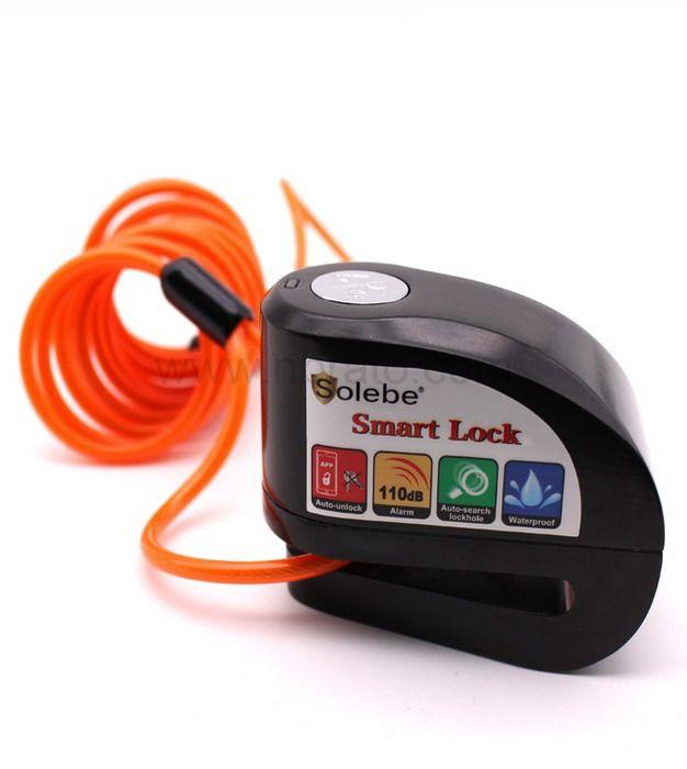 Anti- theft 115db alarm APP bluetooth zinc alloy Motorbike Disc Sensor Alarm Lock