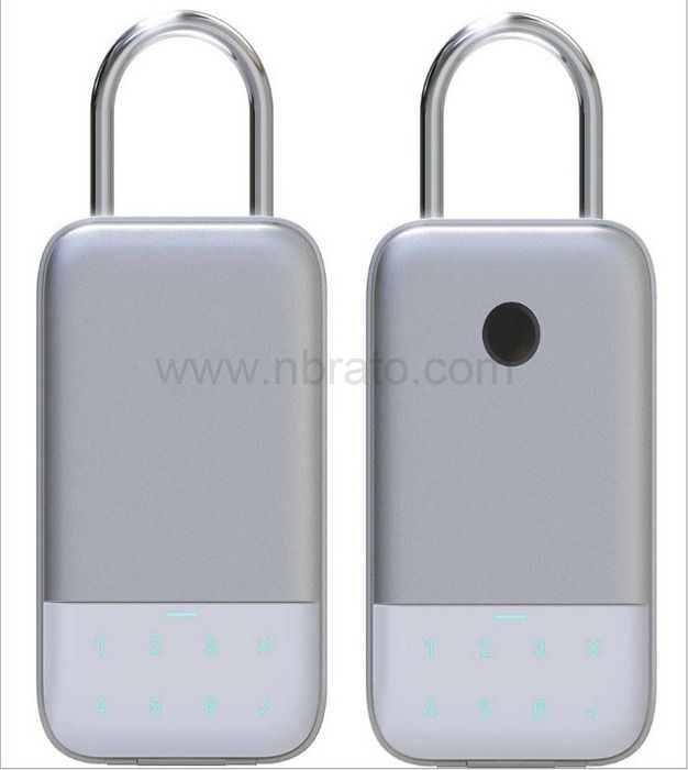 Security Home Use APP control Hang Design Electronic Password Fingerprint Padlock Smart Key Storage Box