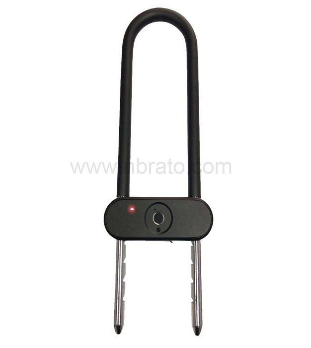 2020 new product smart u-lock for motorbike or bicycle Fingerprint U-lock Key fingerprint double unlock U-lock