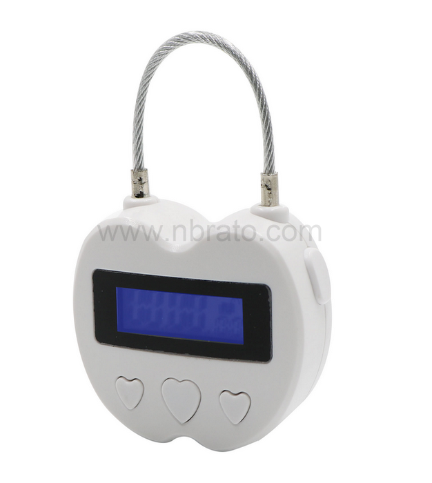 USB Rechargeable Time Timer Alarming Padlock 99 hours max multifunctional timing lock