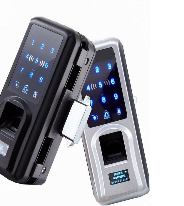 Hot sale Smart Fingerprint Digital Door Lock For Glass Door With App Password Remote Control Unlock