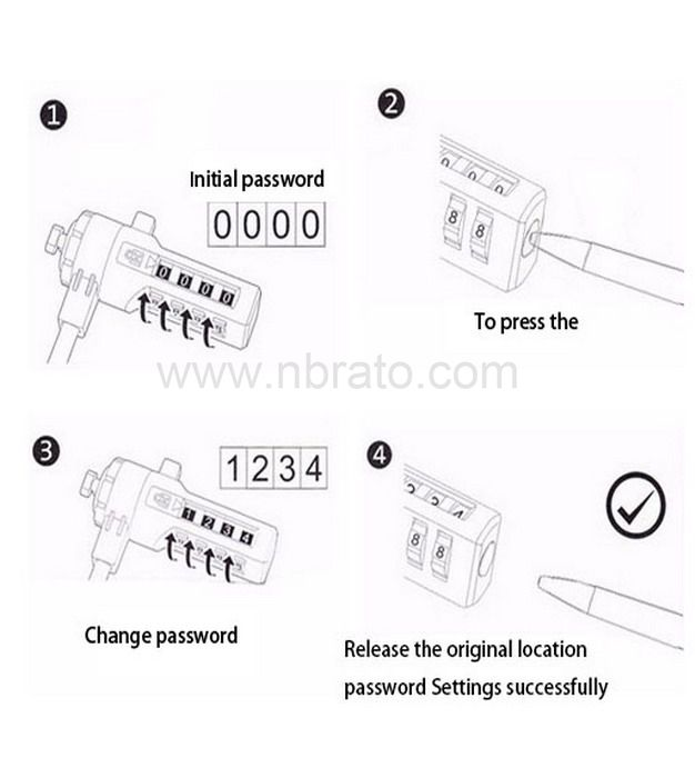 Cheap Hot sales high quality combination lock for laptop laptop security lock