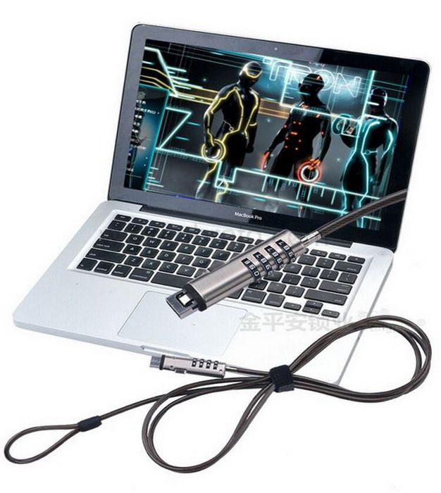 Cable computer USB Anti-theft 4 password Combination Laptop Lock