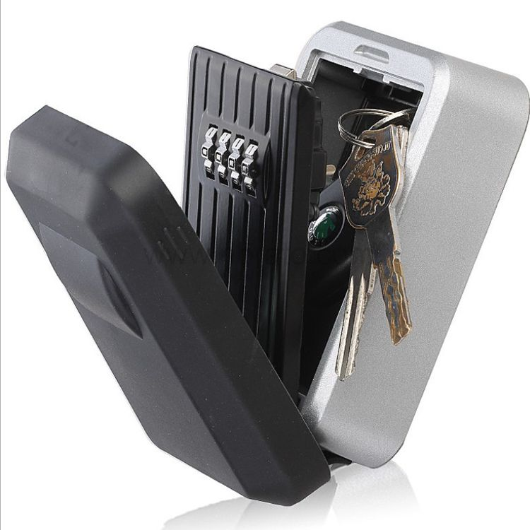 Safe black Wall Mount zinc alloy waterproof 4 code Combination Key Lock Box