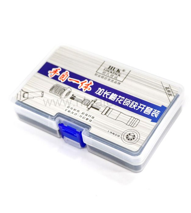 Adjustable Tubular Smith Pick Tool Lock 3 PCS 7 Pins Tubular Lock Kit with a Mode