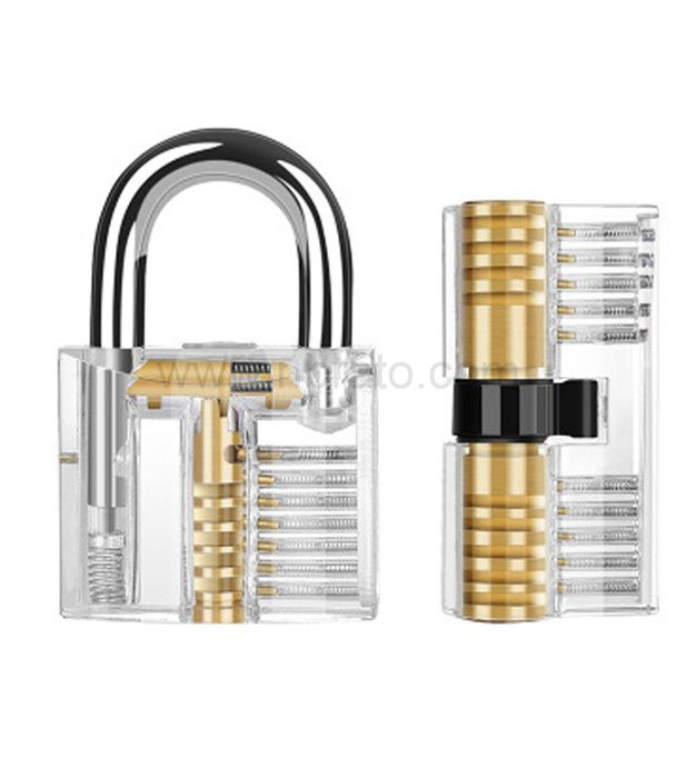 Wholesale 7 Pieces removing hooks locksmith training tool lock pick skill practice Transparent lock