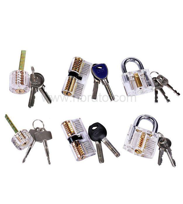 Locksmith Cutaway Transparent Visable Practice Lock training Skill Pick set lock