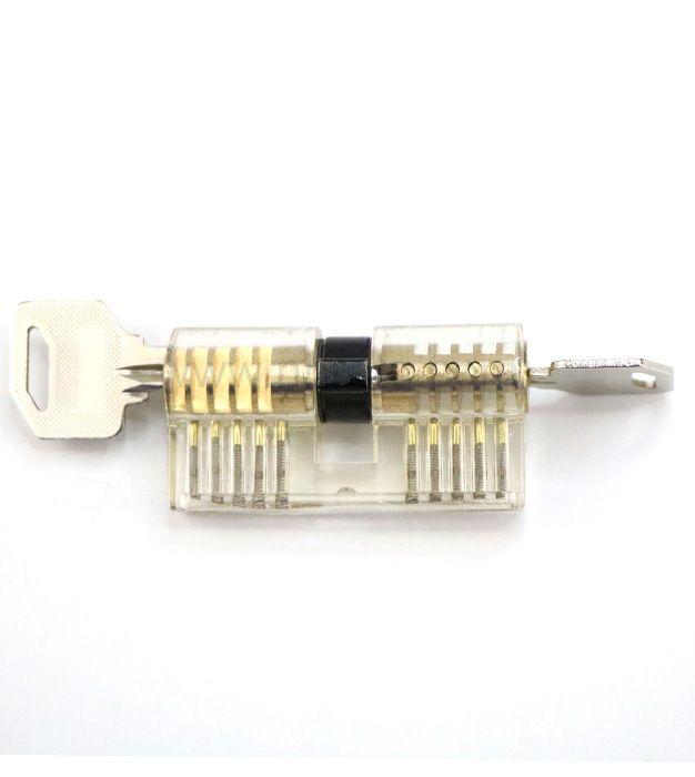 8-Piece Practice Lock Set for Beginner and Pro Locksmiths Transparent Padlock Professional Lock Picking Tool Kit