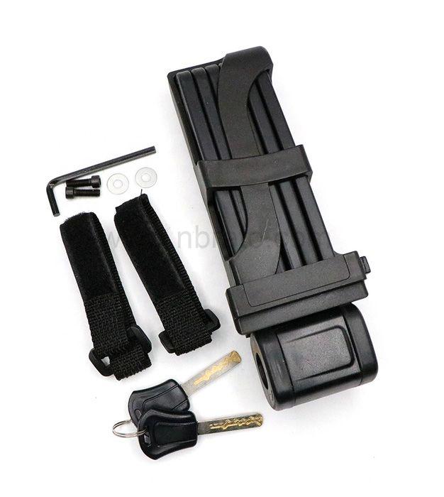 Classic Black with Steel Bars Heavy Duty Foldable Bicycle Chain Lock Foldylock Bike Lock