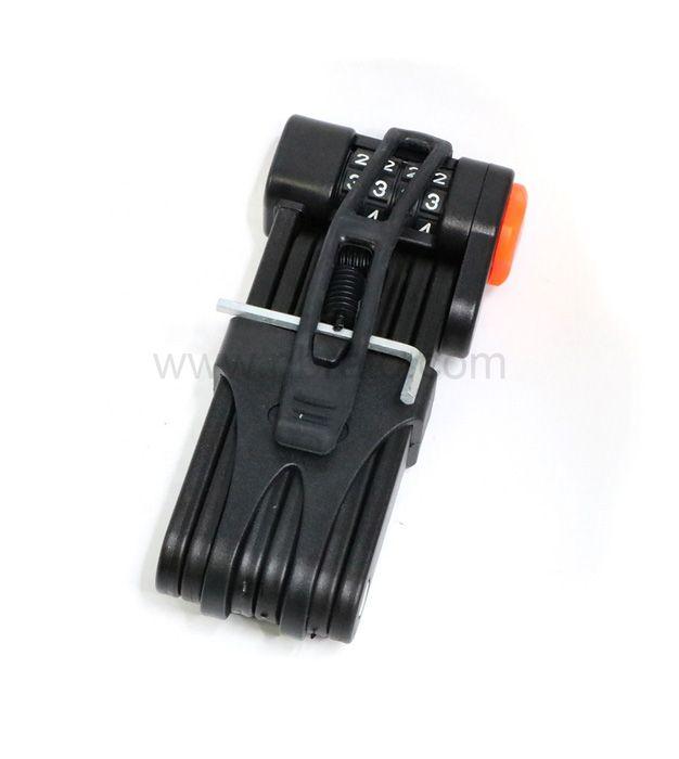 High Security Heavy Duty 4- Digit Code Bicycle Security Lock Folding Keyless Bike Lock