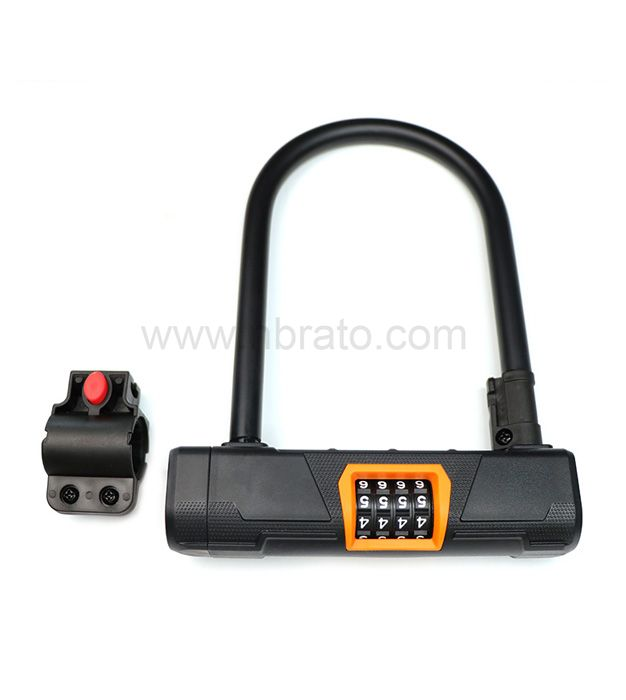 Anti theft Hardened steel Easy to install Mounting Heavy Duty Combination Bicycle u password Lock