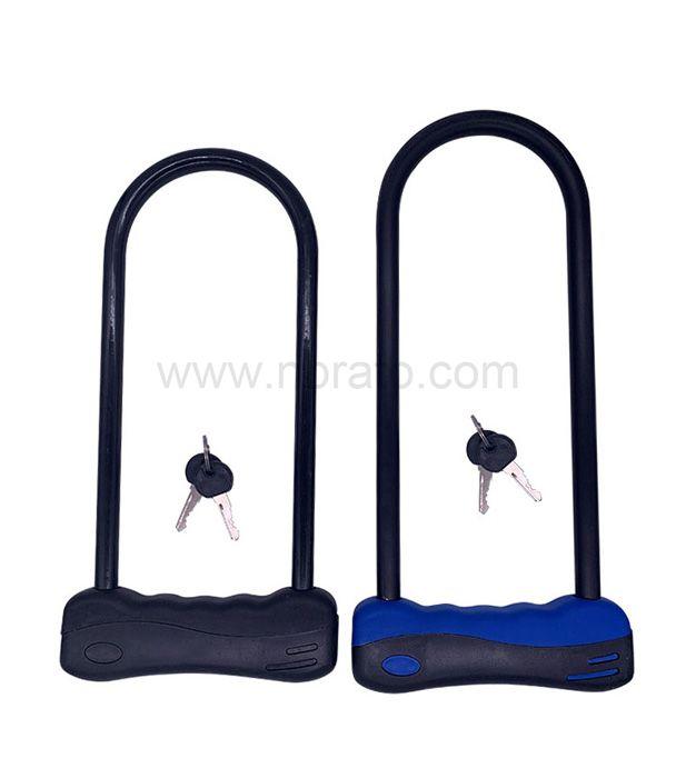 Bike U Lock With Bracket, Heavy Duty U Lock with Dust cover
