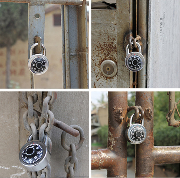 Small Aluminum Alloy Safety Round Dial Combination Padlock