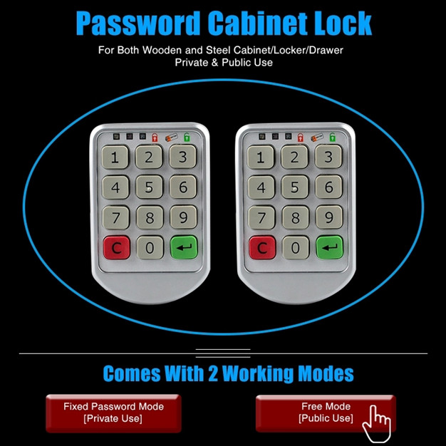 Electronic Code Combination Lock For Both Wood And Steel Filing Cabinet