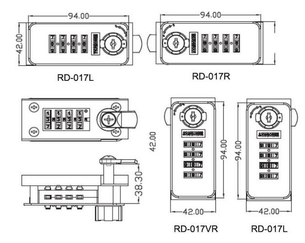 Safety Master Key Metal Drawer Mechanical Digital Furniture Combination Door Lock