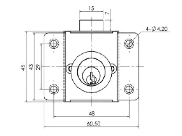 Push Button Cabinet  Press Rim Drawer Lock