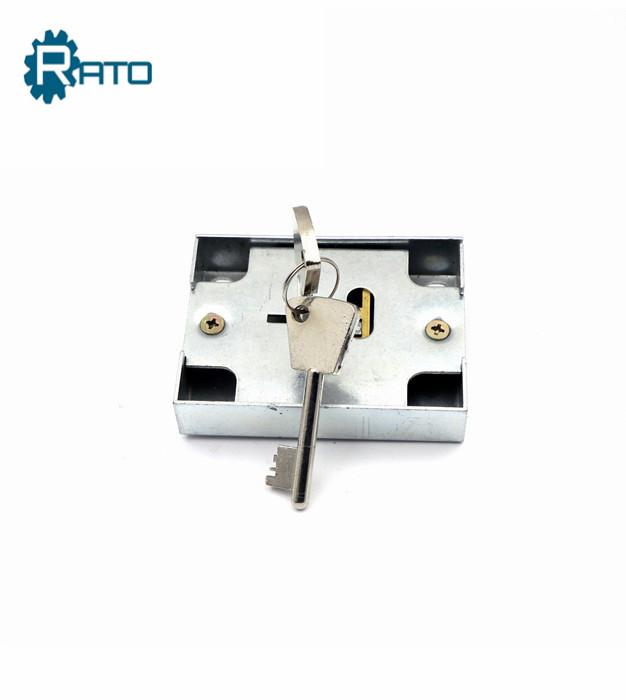 Cabinet  brass 7 lever safe key lock