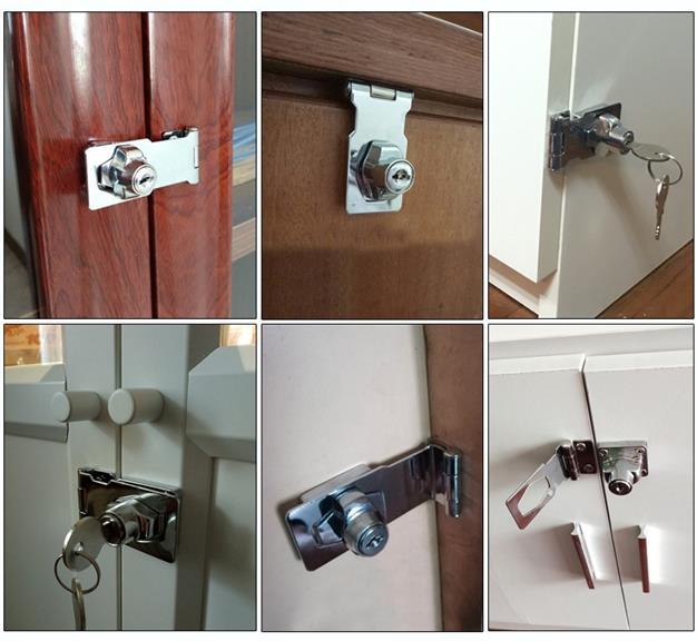Keyed Twist Knob Cabinet Drawer Hasp Door Lock