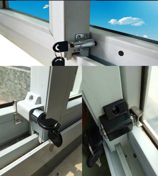 Heavy Duty Sliding Patio Door Wood Window Bolt Keyed Sash Lock