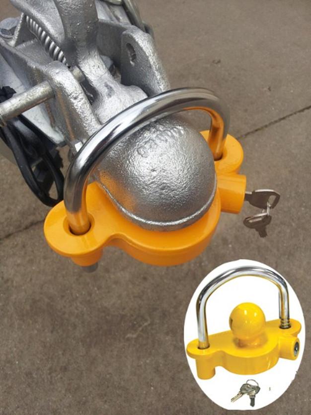 U Shape Universal Steel Trailer Ball Hitch Coupler Lock