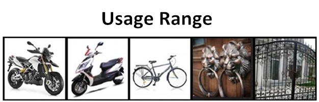 Chinese Mini Smart U Shackle bicycle lock with key