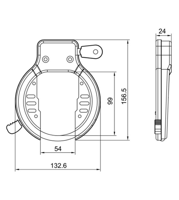 Round shape frame bicycle lock
