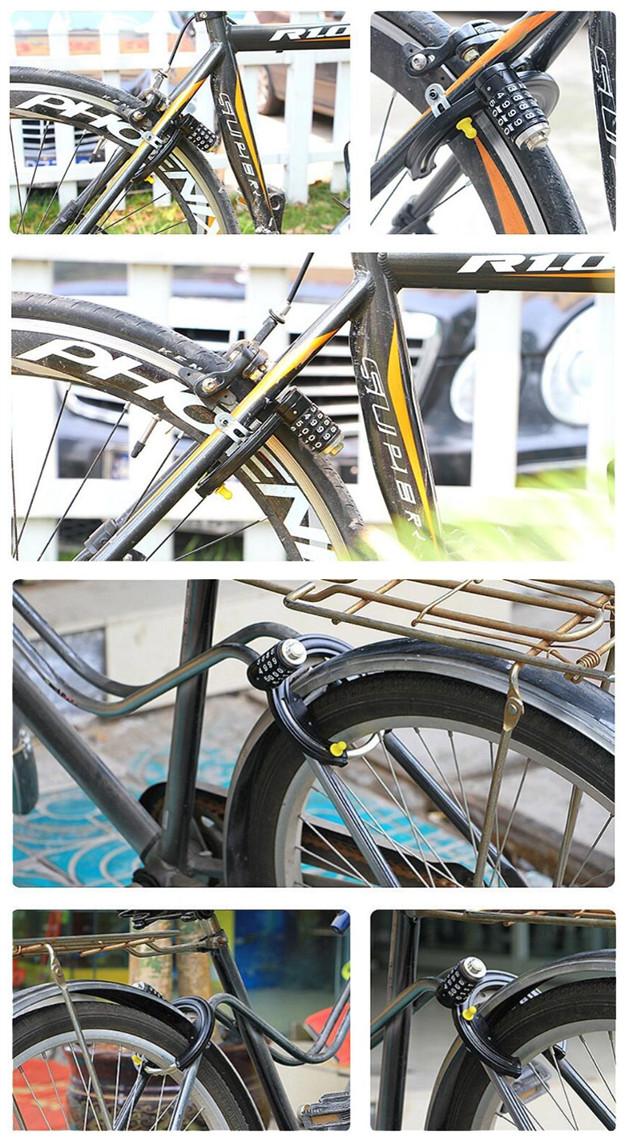 Security Anti-Theft 4-Digit Combination Bicycle Keyless Password Lock