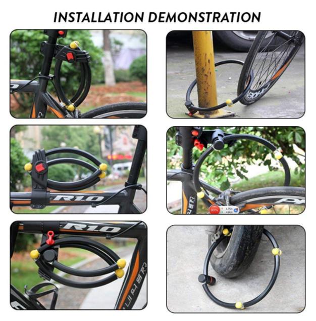 Folding 4-Section Collapsible Anti-20-ton Hydraulic Shearing Bike Chain Lock