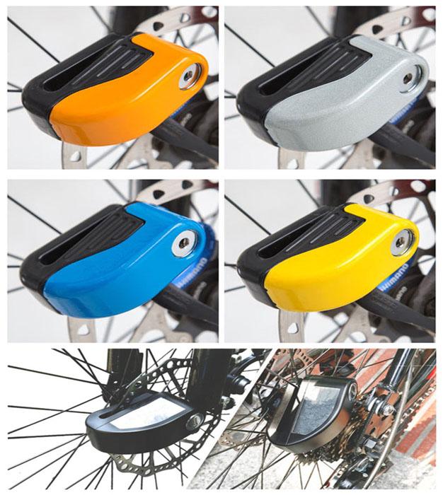 Anti-theft Security 100 db Electric Bicycle Battery Alarm Disc Brake Lock