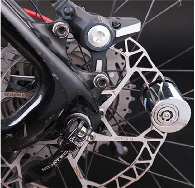 Round Motorcycle Bicycle Anti-theft Brass Disc Brake lock