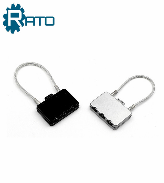 Small Zinc Alloy 3 Digit Combination Cable Padlock
