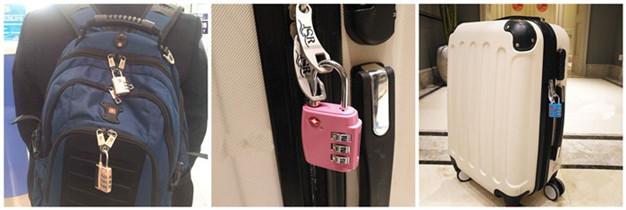 TSA Decorative Combination Padlock with Master Key