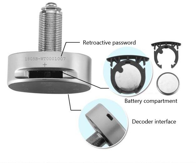 Electronic Password Keypad Locker Digital Cabinet Lock For Office Home Gym