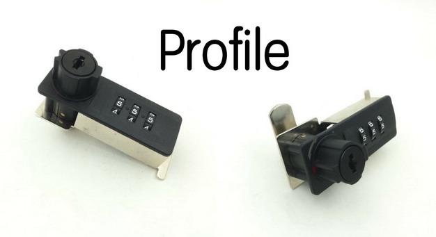 Top Security ABS 3 dial Combination Cabinet Locker Lock