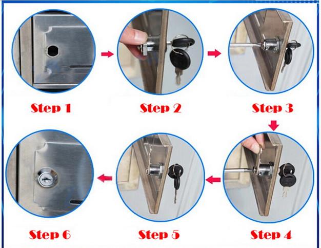 Brass Key Zinc Alloy Cabinet Cylinder Cam Lock