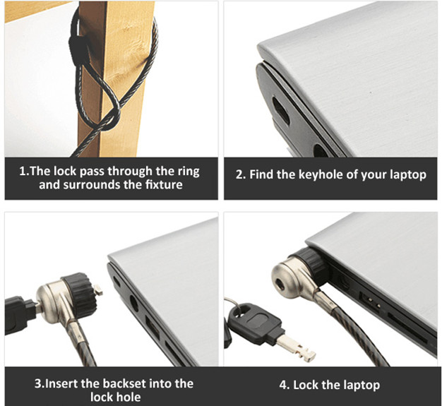 Laptop Cable Lock with Two Keys Computer Lock