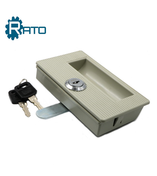 Metal Cabinet Lockable Plastic Recessed Flush Sliding Pull Handle