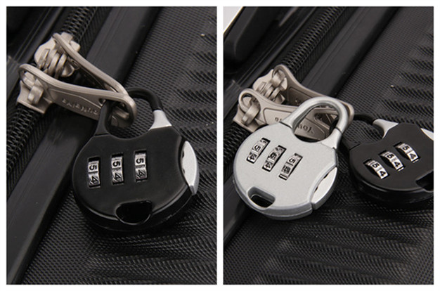 Mini Multi-Color Decorative Luggage 3 Number Combination Padlocks