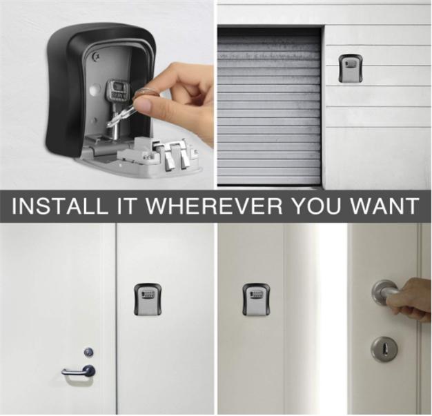Weatherproof Outdoor Wall Mounted 4 Digit Combination Key Storage Lock