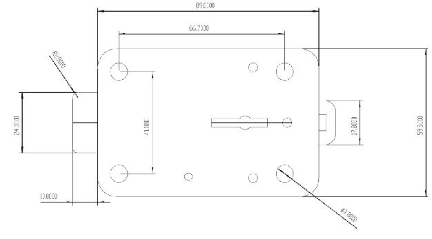 Mechanical Safe Deposit Box Rim Lock