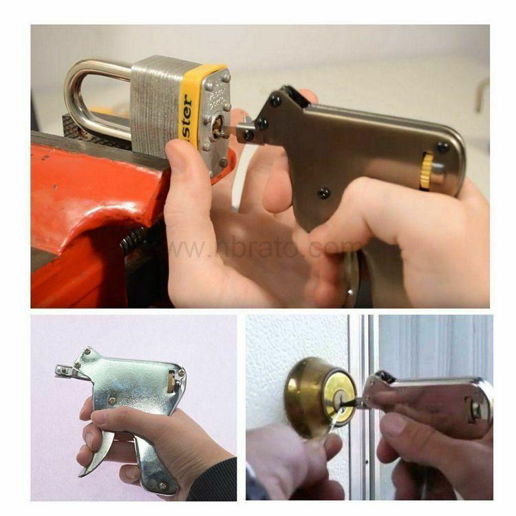 Stainless Steel Door Opener Locksmith tool Strong Manual Lock Pick Gun Padlock Repair Tools Kit
