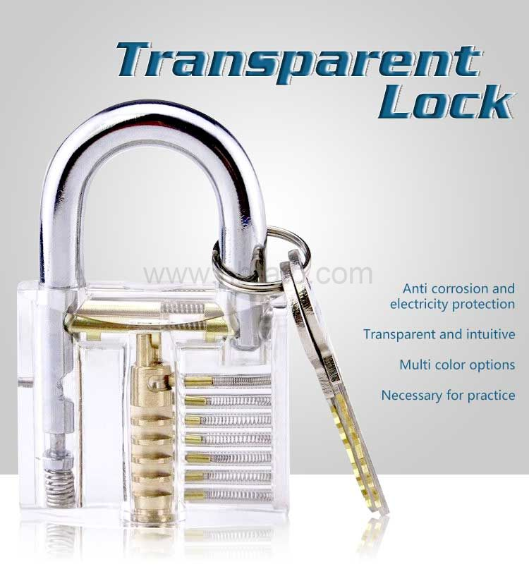 50MM Clear Transparent Cutaway Practice Tools for Locksmith Professional Training Skill Practice Lock