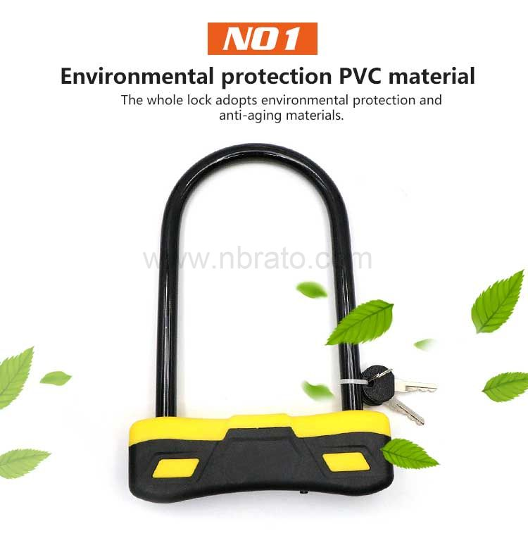 OEM LOGO Weatherproof Heavy Duty 25CM D Shape Shackle Electric Bicycle Lock