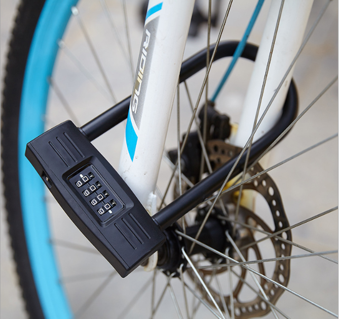 Anti-theft key safe Waterproof U Shaped password Bike Lock OEM Combination Bicycle Lock