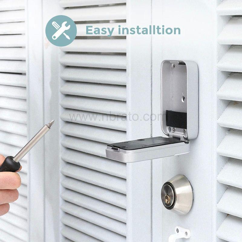 Security Home Use APP control Hang Design Electronic Password Fingerprint Padlock Smart Key Storage Box