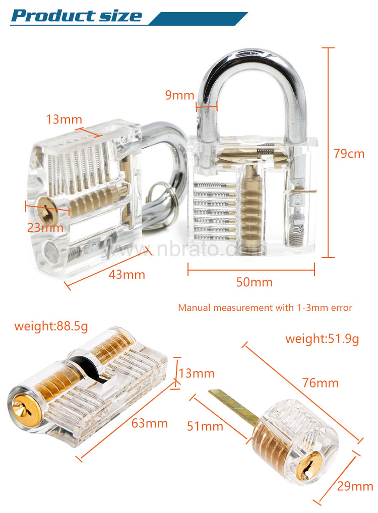 Mini lock creative transparent lock luggage lock customized support the development of logo